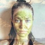 Matcha tea facial mask