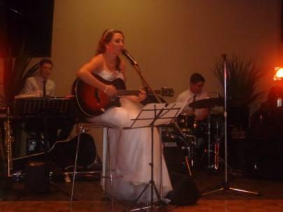 Skye performing her song