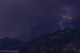Lightning over the Wasatch-2
