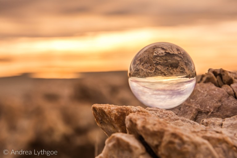 Lens ball at Great Salt Lake-1