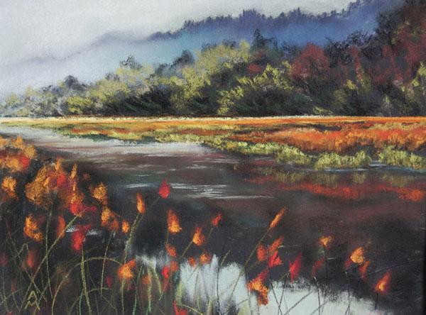 andrea mcfarland wetlands pastel art