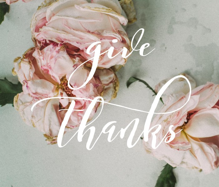 An Encouragement – Give Thanks