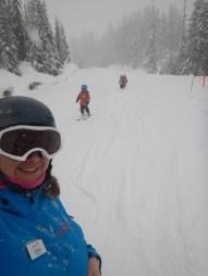 Een sneeuwdag op de berg