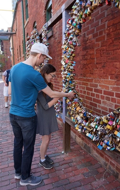 The Toronto Distillery District Love Locks | www.andreapeacock.com