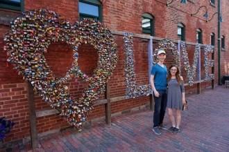 The Toronto Distillery District Love Locks | www.andreapeacock.com