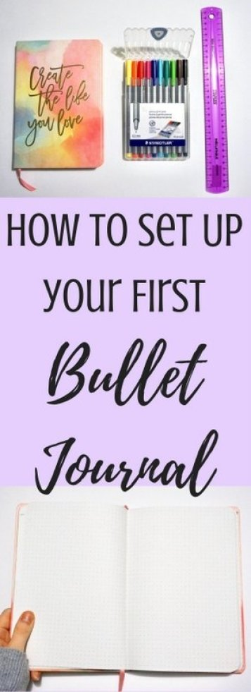 How to Set Up Your First Bullet Journal | www.andreapeacock.com