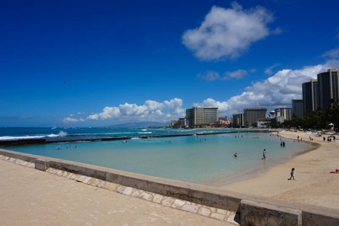 Waikiki Beach in Honolulu, Oahu