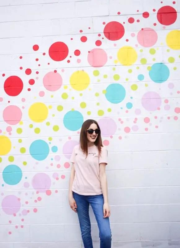 Polka dots mural in Vancouver
