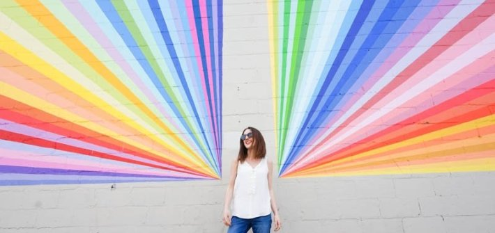 Rainbow mural in Vancouver, British Columbia