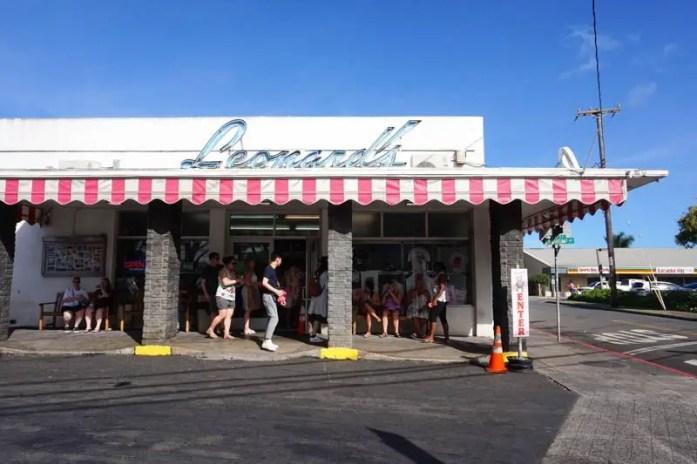 Oahu Hawaii travel guide Leonard's Bakery