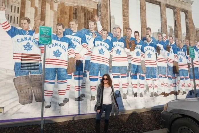 Penticton Vees hockey team mural