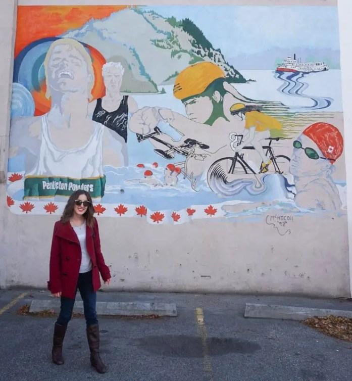 Iron Man mural in Penticton, British Columbia