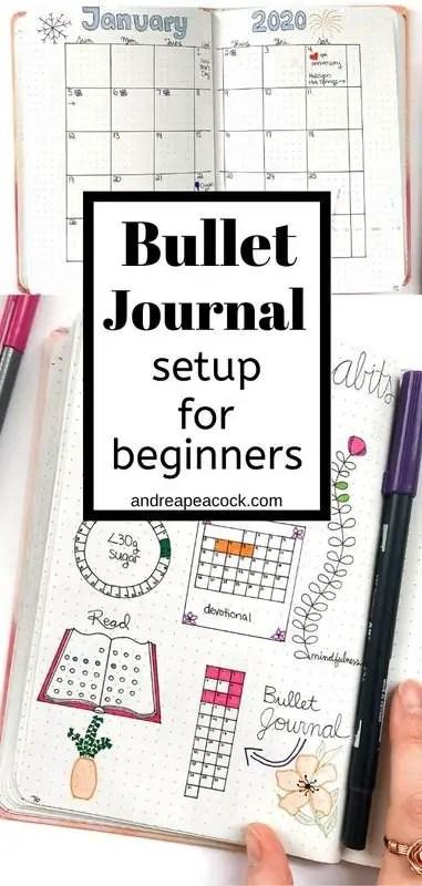Bullet Journal Setup for Beginners | Andrea Peacock #bujolayout #bujosetup