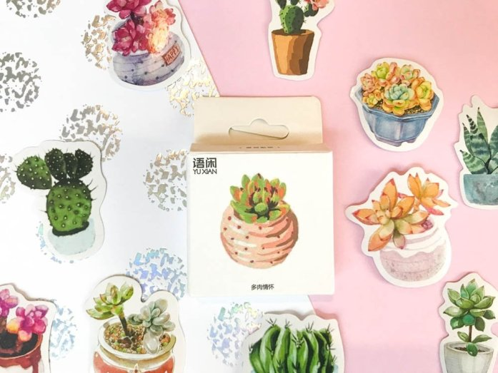 Bullet Journal Supplies plant stickers