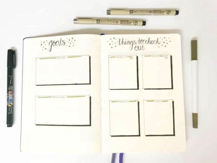 bullet journal minimalist setup for beginners