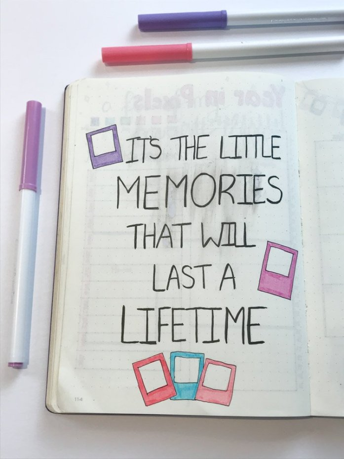 quote: it's the little memories that will last a lifetime