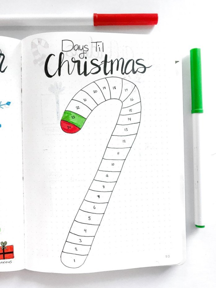 candy cane countdown to christmas