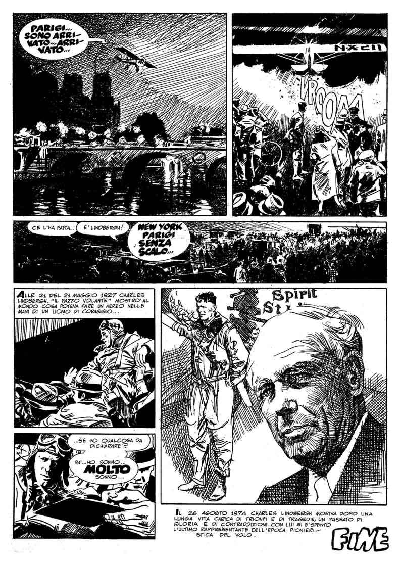 La storia di Charles Lindbergh a fumetti (testi di Alfredo Castelli, disegni di Mario Uggeri)