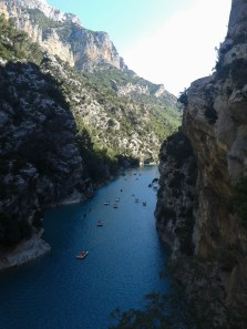 On Verdon river sometimes there's a lot of traffic....