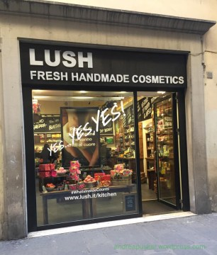 Some friends from Marist are studying abroad in Florence this semester. One was kind enough to send me a LUSH store front! Can you read the Italian?