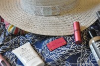 Hat from TJ Maxx with Lilly Pulitzer Beach Bag