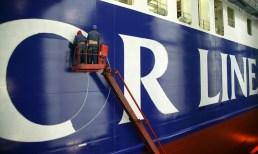 Color Line auf der Werft Schiff Malerarbeiten