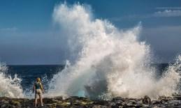 Lanzarote Wellen Meer Menschen Landschaften