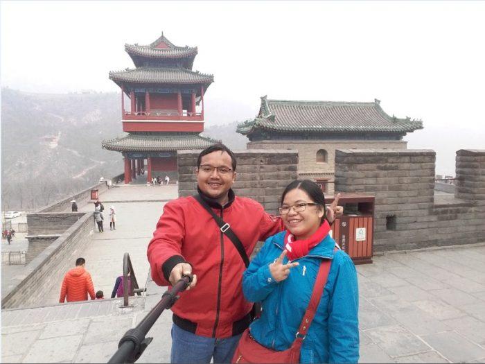 traveling ke tembok china great wall