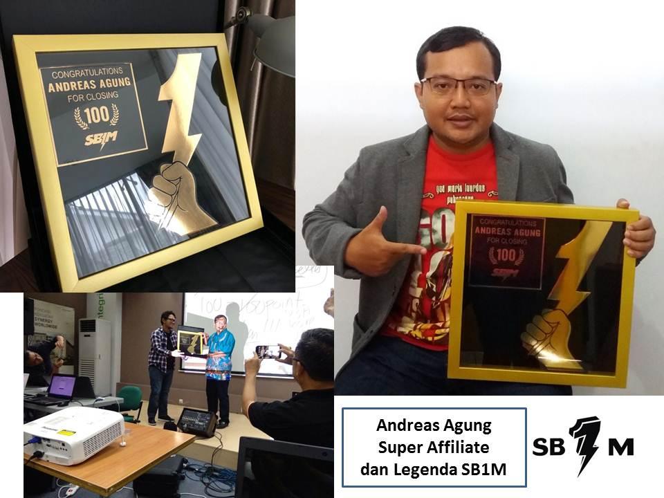 Andreas Agung Peraih Plakat SB1M