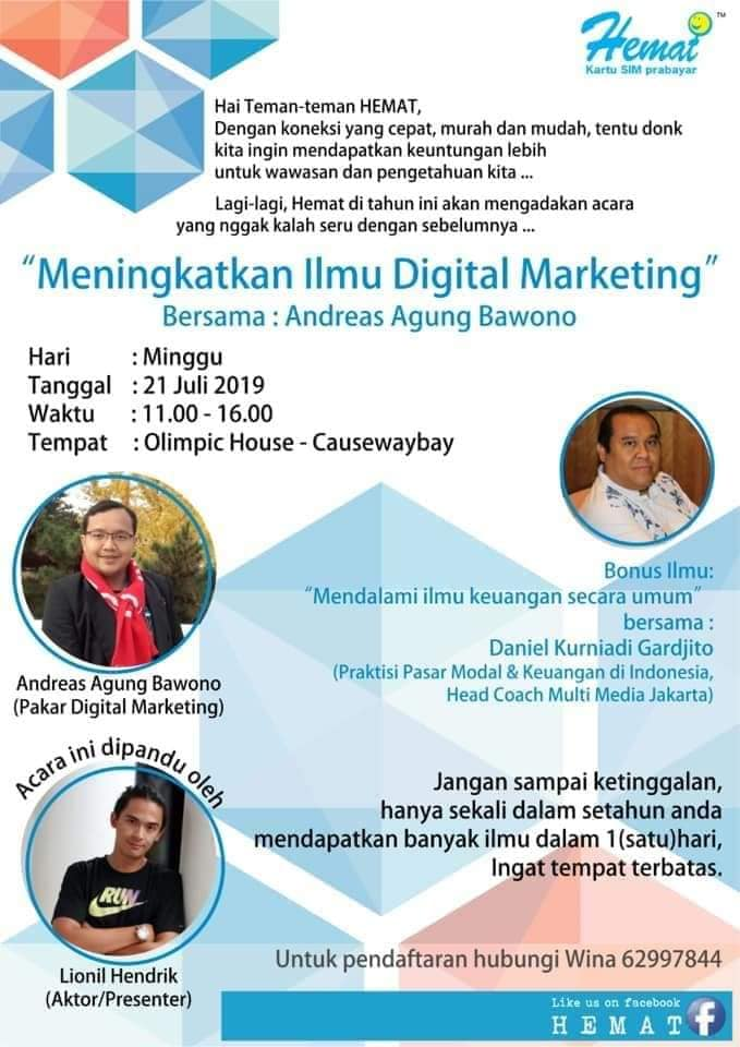 Pembicara Digital Marketing Internasional utk TKI BMI Hongkong