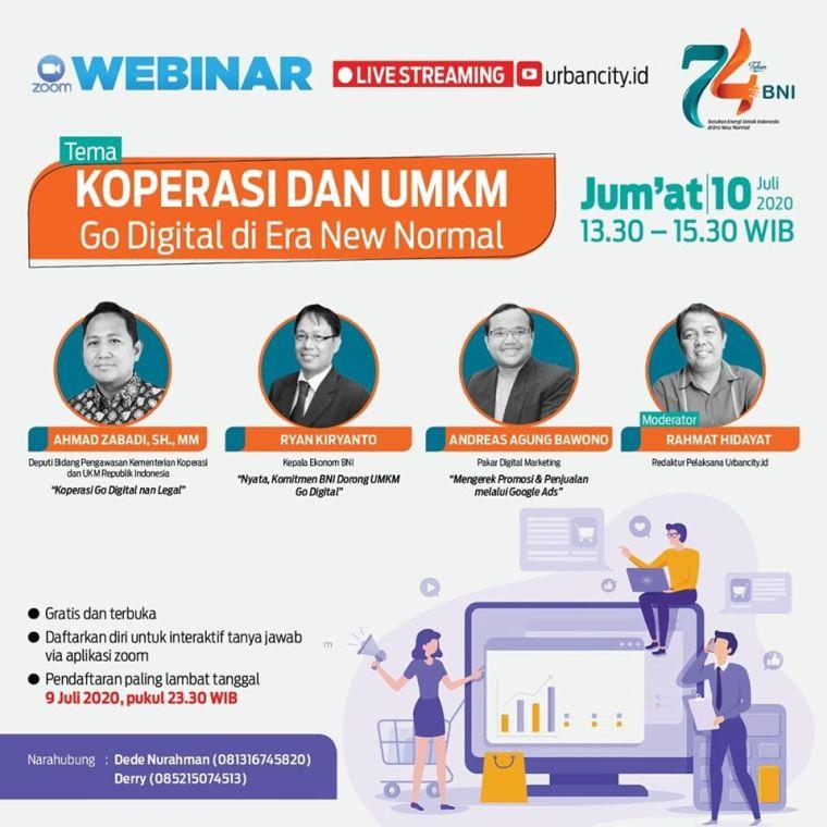 Webinar Digital Marketing Bersama BNI dan Kementerian Koperasi