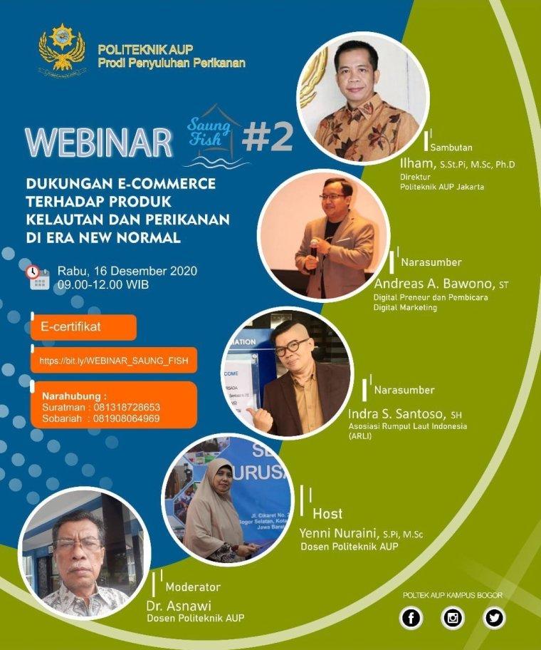 Pembicara Webinar Digital Marketing E-Commerce Politeknik Ahli Perikanan