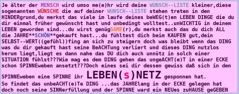 WUNSCH--listenDENKEN