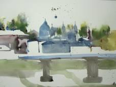 Entstehung Aquarell Salzburg von Andreas Mattern 2