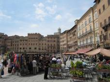 Marktplatz in Siena