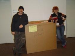 Hauni und ich Vorbereitung Ausstellung in der German House Galery