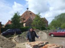Auf der Suche nach einem Malplatz am Schloss Melenthin