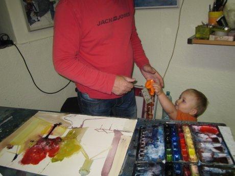 Zwischendurch will mein Sohn Melvin einen Luftballon aufgeblasen haben