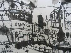 London 2006 - Zeichnung von Andreas Mattern - 20 x 30 cm - Tusche auf Bütten