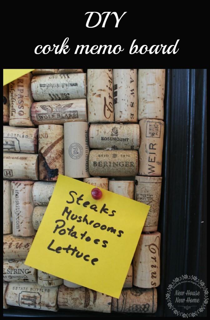 DIY Cork Memo Board
