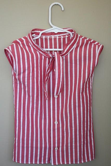 DIY nautical shirt tutorial