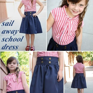 DIY sailor skirt and top tutorial