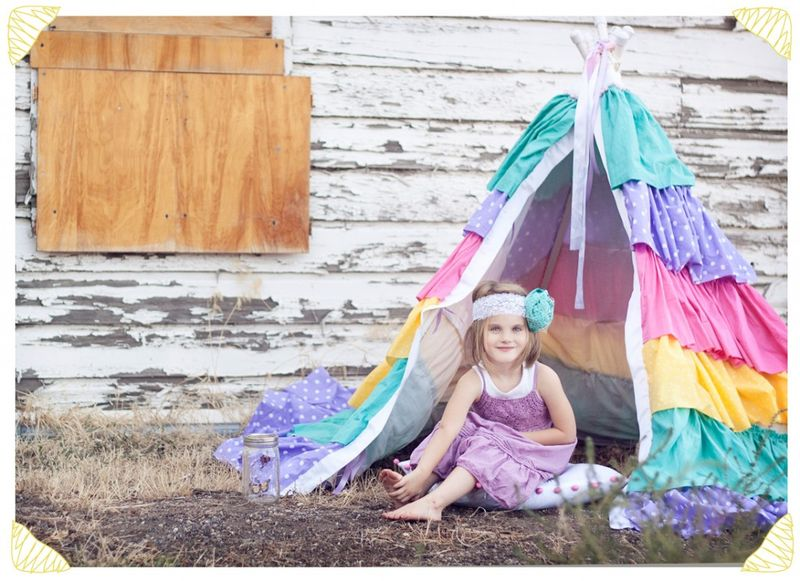 DIY ruffled teepee tutorial