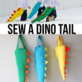 How to sew a dino tail