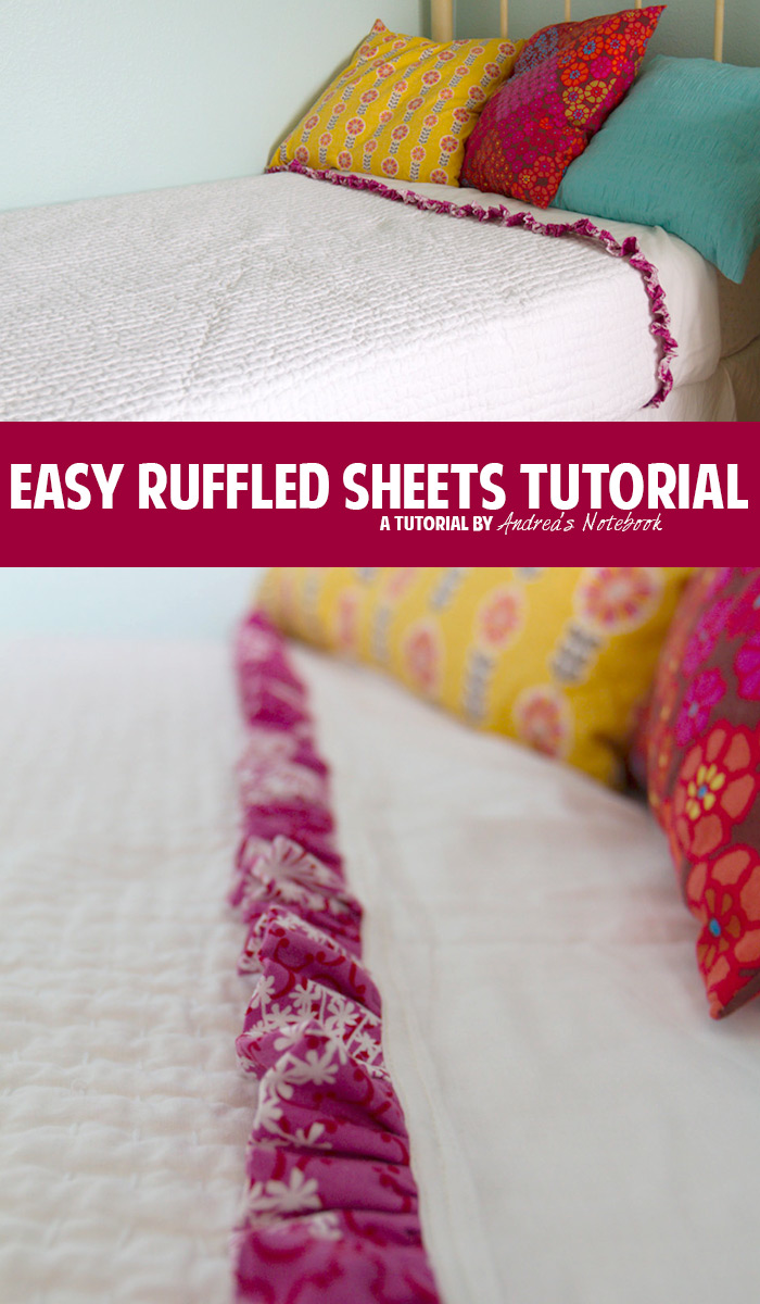 Easy ruffled sheets tutorial