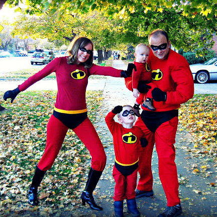 DIY Incredibles costumes for the whole family