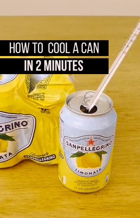 How to cool a can in 2 minutes! Don't pour over ice any more!