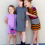 the Anywhere knit t-shirt dress for girls