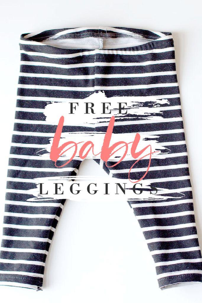 Free DIY Baby Leggings Sewing Pattern pink stripes