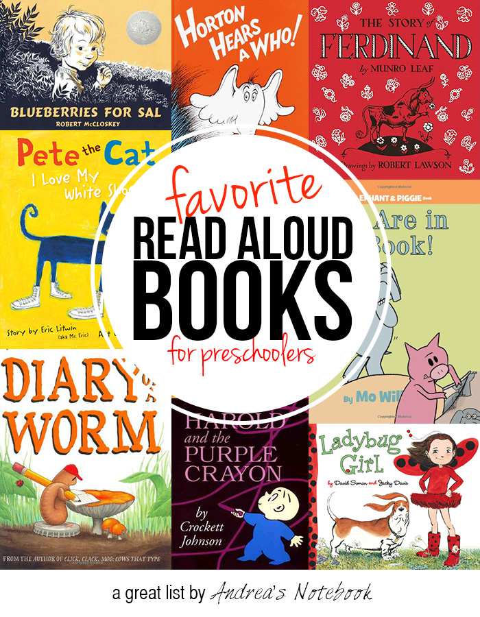 favorite read aloud books for preschoolers. GREAT list!